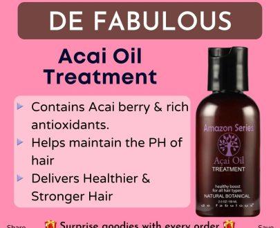 De Fabulous Series Acai Oil Treatment