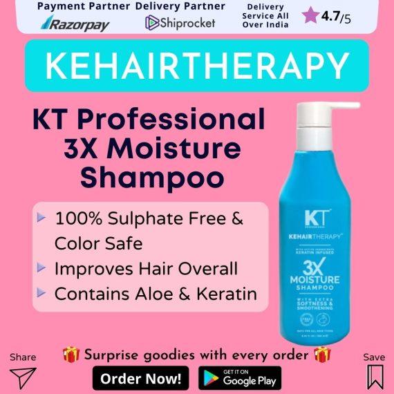 KT Professional Kehairtherapy Sulfate-free 3X Moisture Shampoo
