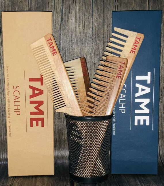 Handcrafted Traditional Neem Wooden Comb 6