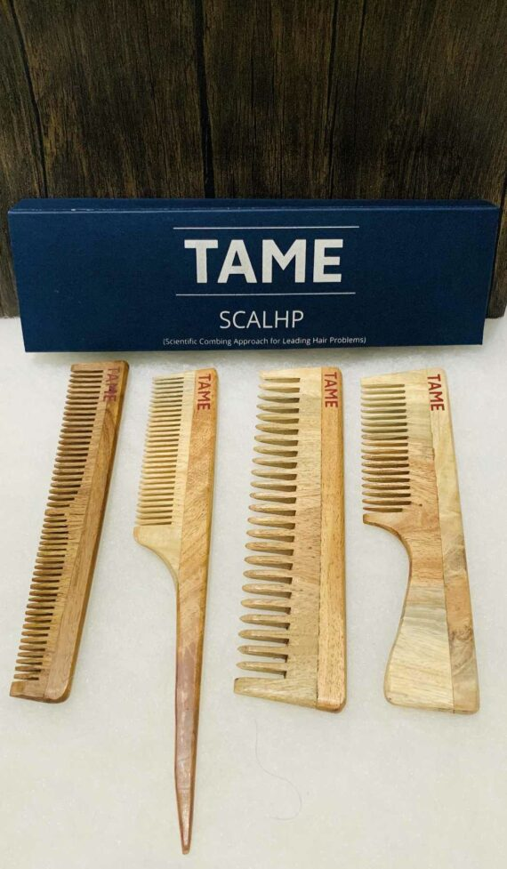 Handcrafted Traditional Neem Wooden Comb 3