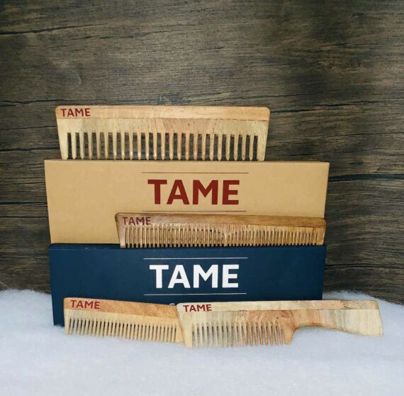 Handcrafted Traditional Neem Wooden Comb 5