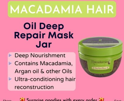 Macadamia Oil Deep Repair Mask Jar