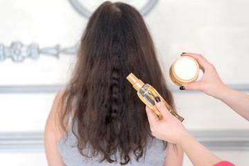 hair serum or oil