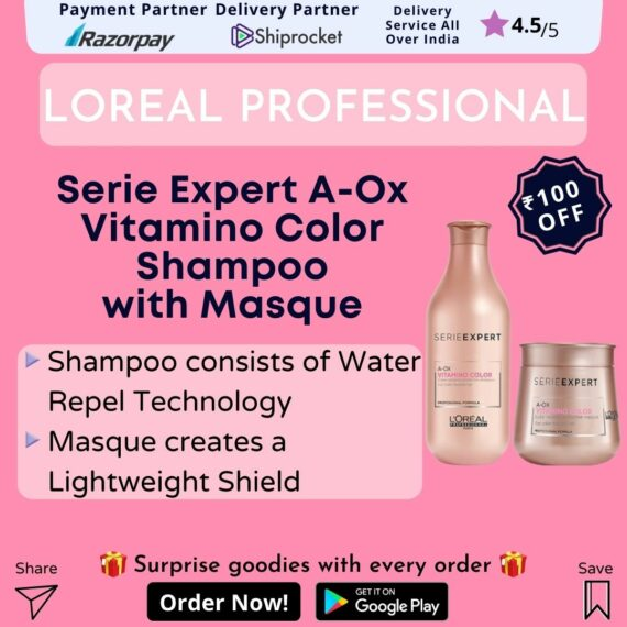 LOreal Paris Serie Expert A-Ox Vitamino Color Shampoo with Masque